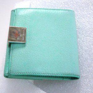 TIFFANY & CO Blue Leather Wallet Trifold Organizer